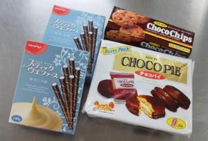 20131210チョコレート菓子4箱